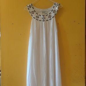 100% Silk Alice by Temperly Dress White